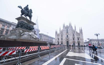 Milano, questa mattina la prima debole nevicata sulla città