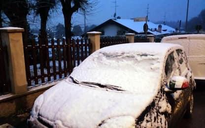 Maltempo in Campania, calano le temperature: neve nel Beneventano