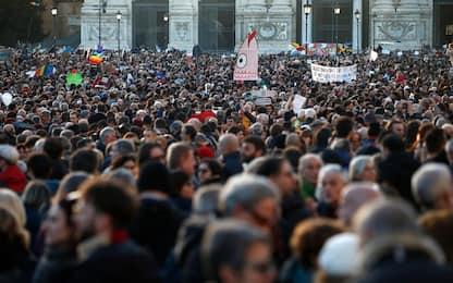 """Le Sardine invadono Roma. Il leader: """"Ora inizia la seconda fase"""""""