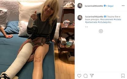 Luciana Littizzetto cade in strada a Torino: braccio e gamba ingessati