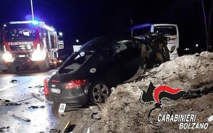 Incidente Alto Adige, due giovani ancora in terapia intensiva