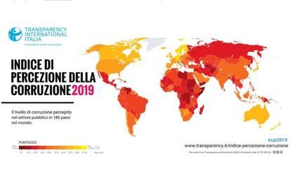 Corruzione, Italia 51esima nell'indice di percezione di Transparency