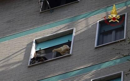 Corsico, cane bloccato su un davanzale a 20 metri: salvato da pompieri
