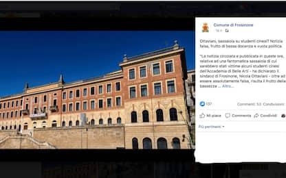 Nessuno ha preso a sassate gli studenti cinesi a Frosinone
