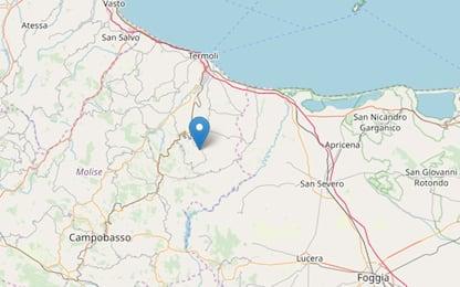 Terremoto Molise, scossa magnitudo 2.9 a Rotello (Campobasso)