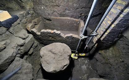 Scoperto nel Foro Romano un ambiente ipogeo con un sarcofago