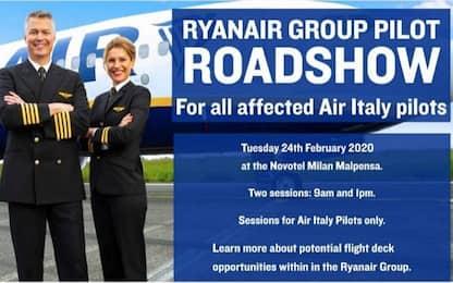 Air Italy, Ryanair incontrerà piloti in liquidazione a Malpensa