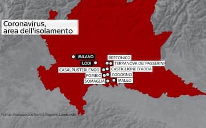 Coronavirus in Lombardia: sono 10 i comuni del Lodigiano in isolamento