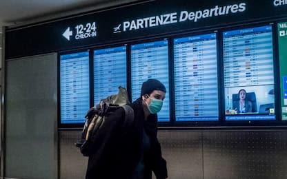 Coronavirus, tutti i voli cancellati da e per l'Italia