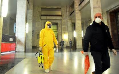 Coronavirus, evacuato piano del Tribunale di Milano. FOTO