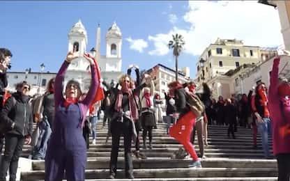 """Roma, """"Non una di Meno"""" in Piazza di Spagna per l'8 marzo. VIDEO"""