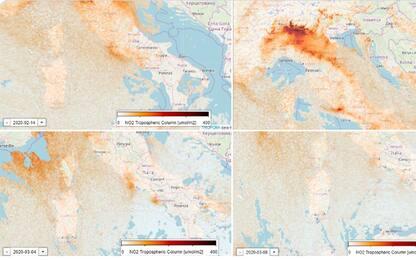 Coronavirus, in un mese calato smog su Nord Italia: foto dai satelliti