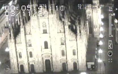 Coronavirus, Milano vista dall'alto di notte: il video