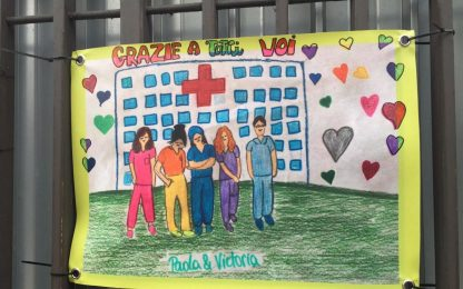 Coronavirus, i disegni dei bambini al Policlinico di Milano
