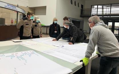 Coronavirus, Emergency a Bergamo per il nuovo ospedale in Fiera