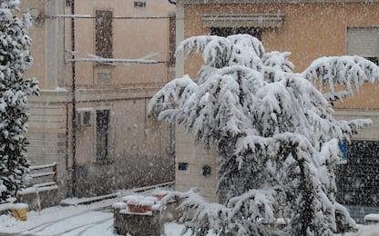 Neve al Centro-Sud: imbiancati Umbria, Abruzzo e Molise