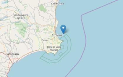 Terremoto Crotone, sequenza sismica con scosse fino a magnitudo 3.8
