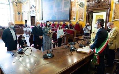 Sposi a Parma due medici del reparto Covid-19. FOTO