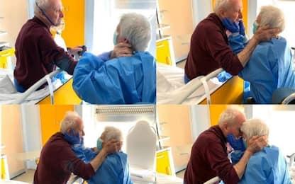 Coronavirus, Giorgio e Rosa si riabbracciano in ospedale: LA FOTO