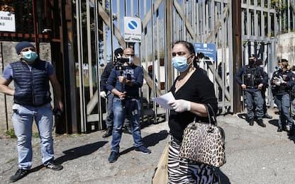 Coronavirus, ancora proteste nel carcere di Rebibbia. FOTO
