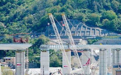Genova, procedono i lavori dell'ex Ponte Morandi. FOTO
