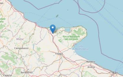 Terremoto in provincia di Foggia, scossa di magnitudo 3.7