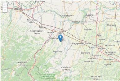 Terremoto in Emilia Romagna, scosse tra Parma e Reggio Emilia
