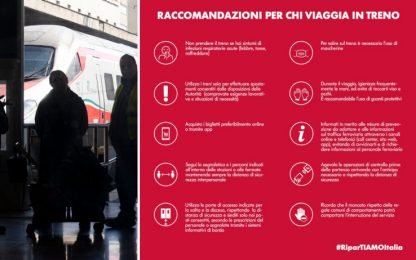Coronavirus Italia, Fase 2: raccomandazioni Gruppo Fs per viaggiare