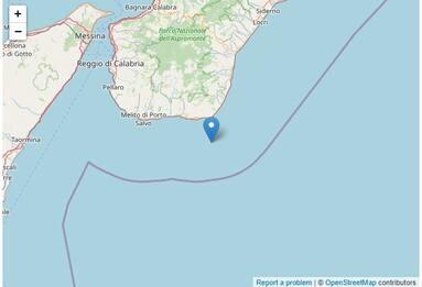Terremoto in Calabria, scossa di magnitudo 3 a largo della costa sud