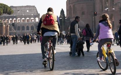 Roma, allo studio in Campidoglio benefit per chi va in bicicletta