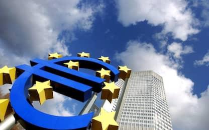 Bollettino BCE, pil eurozona in calo dell'8,7% nel 2020