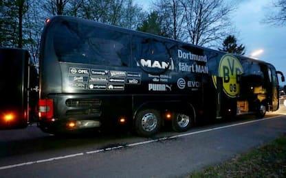 Dortmund, tre esplosioni davanti al pullman del Borussia: ferito un giocatore