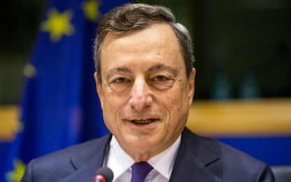 """Draghi: """"Ripresa è sempre più solida, rischi in calo"""""""