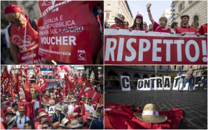 Roma, proteste Cgil contro voucher