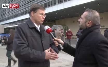 "Dombrovskis a Sky tg24:"" Italia inadempiente, avvieremo procedura"""