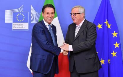 """Manovra, Conte: """"Con Juncker lavoriamo a soluzioni concrete"""""""