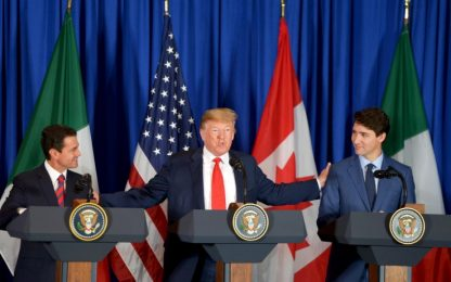Nafta, al G20 Usa, Canada e Messico firmano il nuovo patto commerciale