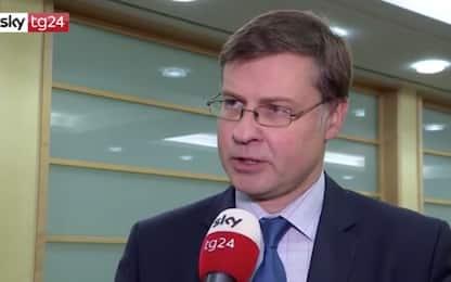 Dombrovskis: Incertezza politica causa rallentamento economia italiana