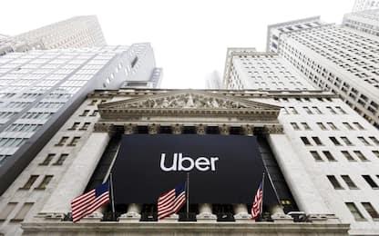 Uber, debutto negativo a Wall Street: titolo perde il 7,6%