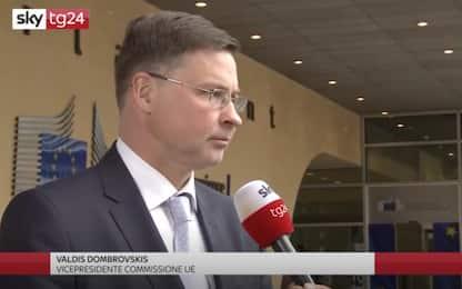 "Dombrovskis: ""L'Italia corregga traiettoria, se no ci sarà procedura"""