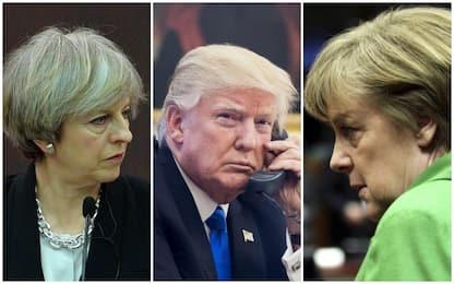 Da May a Merkel, leader mondiali contro la decisione di Trump