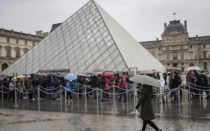 Coronavirus, a Parigi oggi chiuso il museo del Louvre