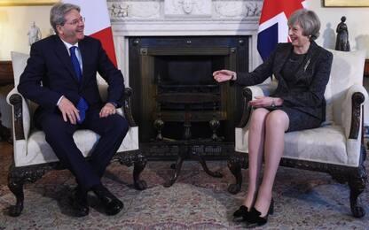 """Gentiloni a Londra dalla May: """"Brexit, negoziato non sia distruttivo"""""""