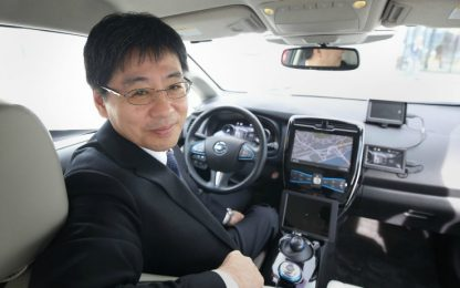 Test Nissan guida autonoma a Londra