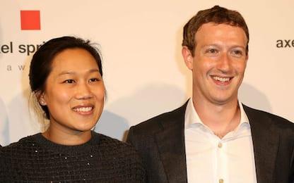 """Mark Zuckerberg: """"Io e Priscilla avremo un'altra bambina"""""""