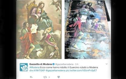 Tela di Guercino ritrovata in Marocco: danni sul 30% della superficie