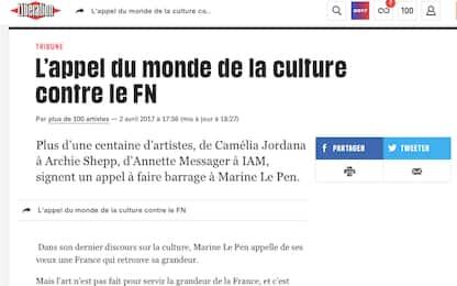 Artisti firmano un appello contro Le Pen