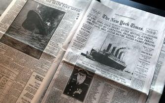 La notizia dell'affondamento del Titanic sul New York Times