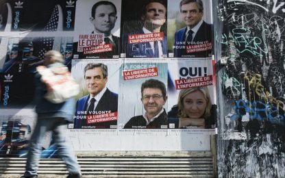 Francia:&nbsp;Macron e Le Pen in calo, recuperano Fillon e Mélenchon&nbsp;<br>