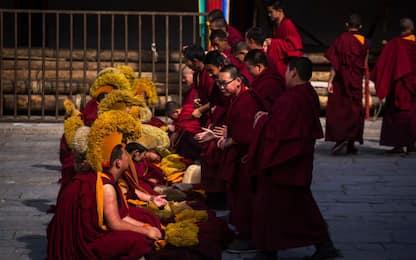 Raduno dei monaci buddhisti a Kumbum